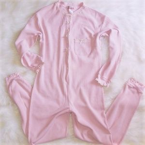 Vintage Thermal Long Johns One Piece Pajamas M